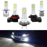 2x h7 led bulbs h1 h3 h8 h11 9006 hb4 led fog lights 3030 for auto cars h11 driving light 6000k white auto lamps drl led 12v