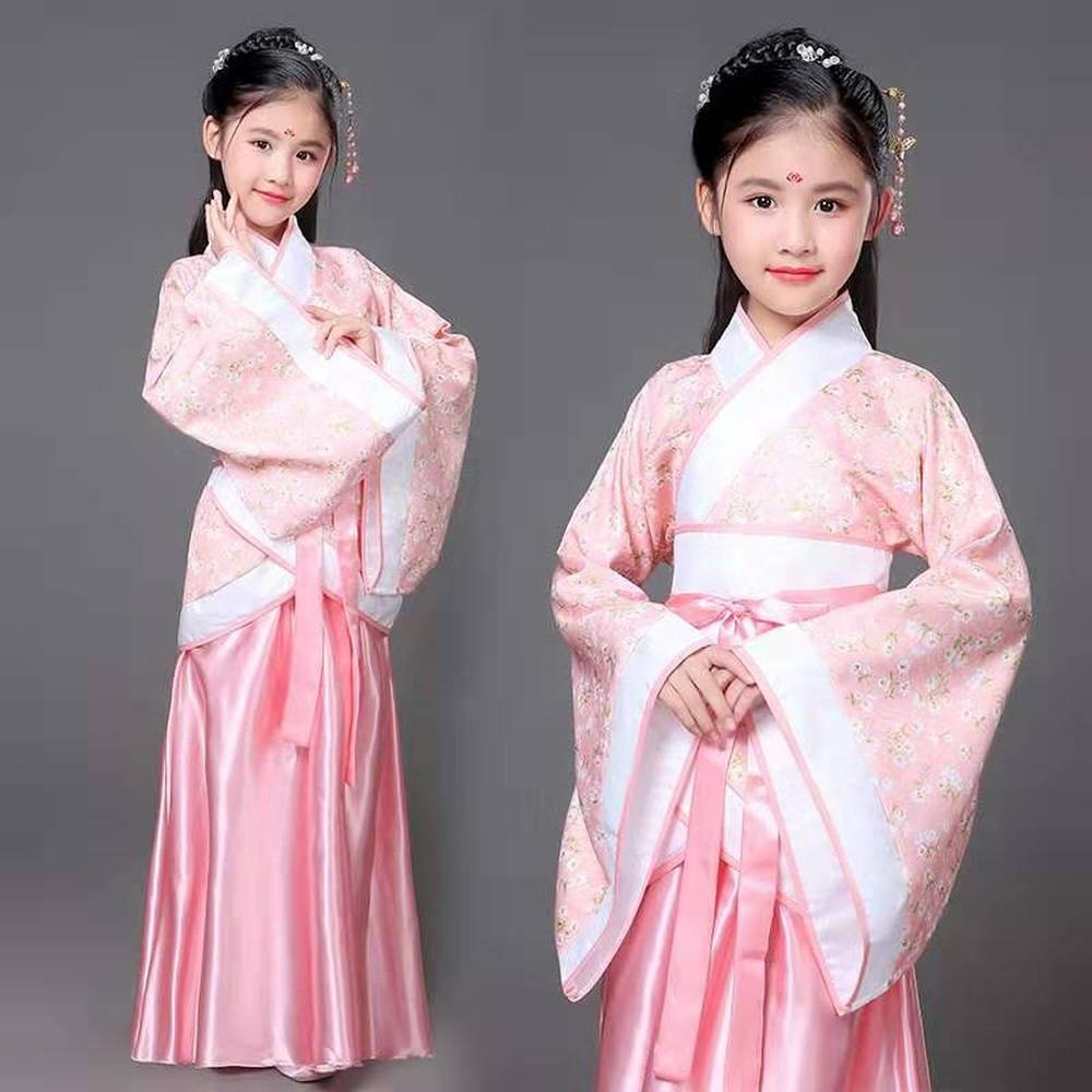 Red White Traditional Hanfu Cosplay Clothing Tang Dynasty Empress Dress Women Chinese Ancient Costume Chinese Outfit for Kids
