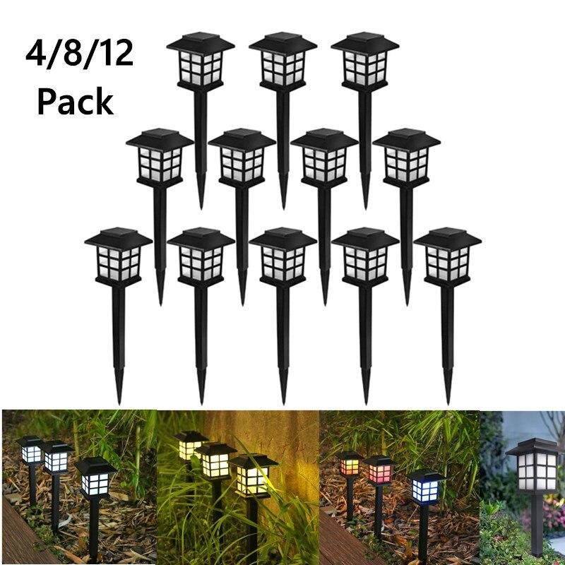 Solar Pathway LED Lights Lawn Lamp Waterproof Outdoor Lantern Garden Lighting Solar Powered Landscape Decorecoration for Walkway