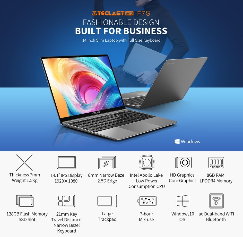 Newest Laptops Teclast F7S 14.1