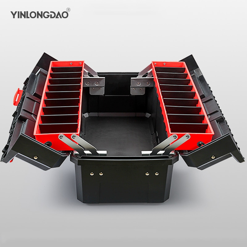 Multifunctional Plastic Tool Box Removable Design Portable Suitcase case Large Capacity storage box organizer for tools