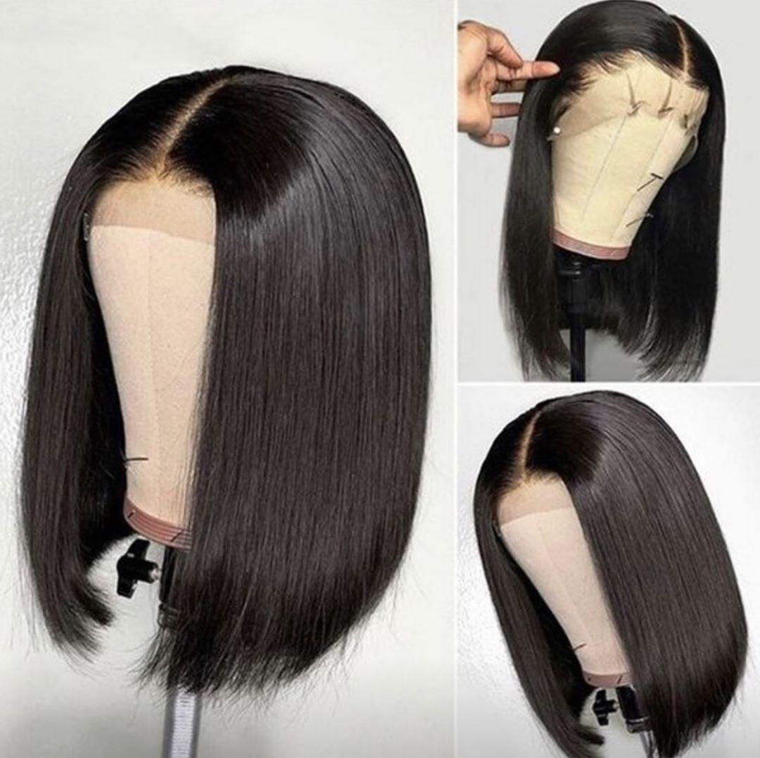 Spitze Front Menschliches Haar Perücken gerade kurz menschliches haar perücken bob perücke brasilianische hd spitze frontal perücke Für Schwarze Frauen remy haar 13x4