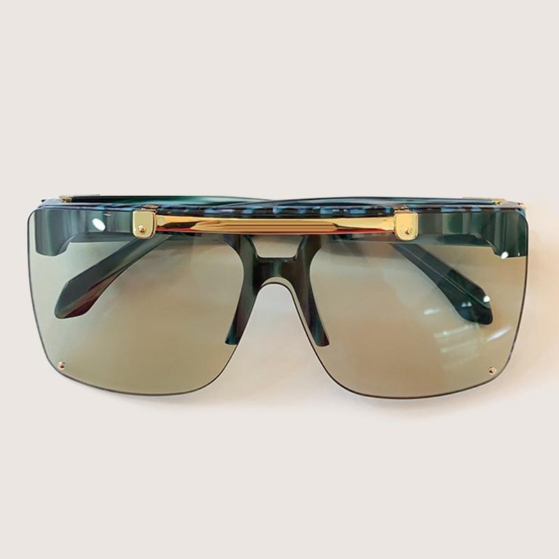 Clássico vintage quadrado óculos de sol feminino marca designer uma peça óculos de sol masculino uv400