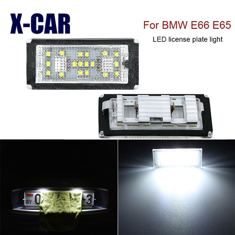 Libre de Error luz LED de matrícula para BMW E66 E65 E67 2006-2008 Serie 7 730d 735i 745i 750i 750Li 760i número de placa de luz