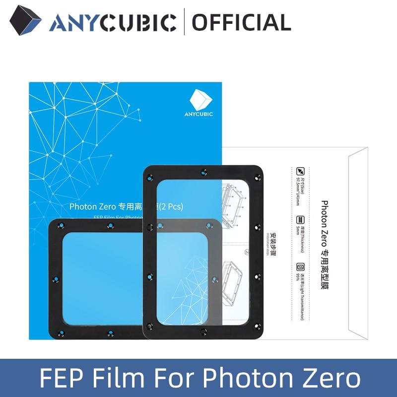 ANYCUBIC 2pcs/Lots FEP Film For Photon Zero Resin 3D printer 141*98mm SLA/LCD FEP Film For 3D Printer