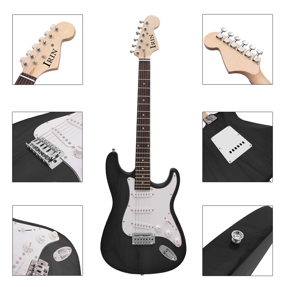 M MBAT 21 Frets 6 Strings Electric Guitar Kit Solid Wood Body Maple Neck Guitar Picks Strap Bag Tuner String Parts Accessories enlarge