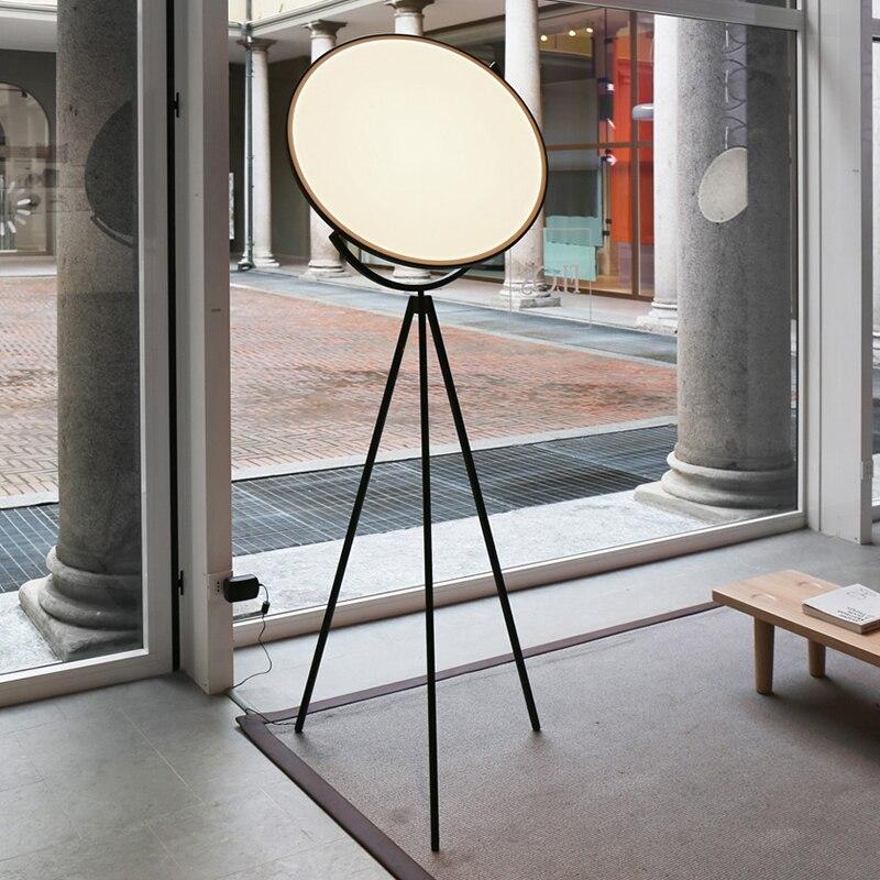 luminaria de chao moderna criativa preta nordica arte sala de estar tripe rotativo