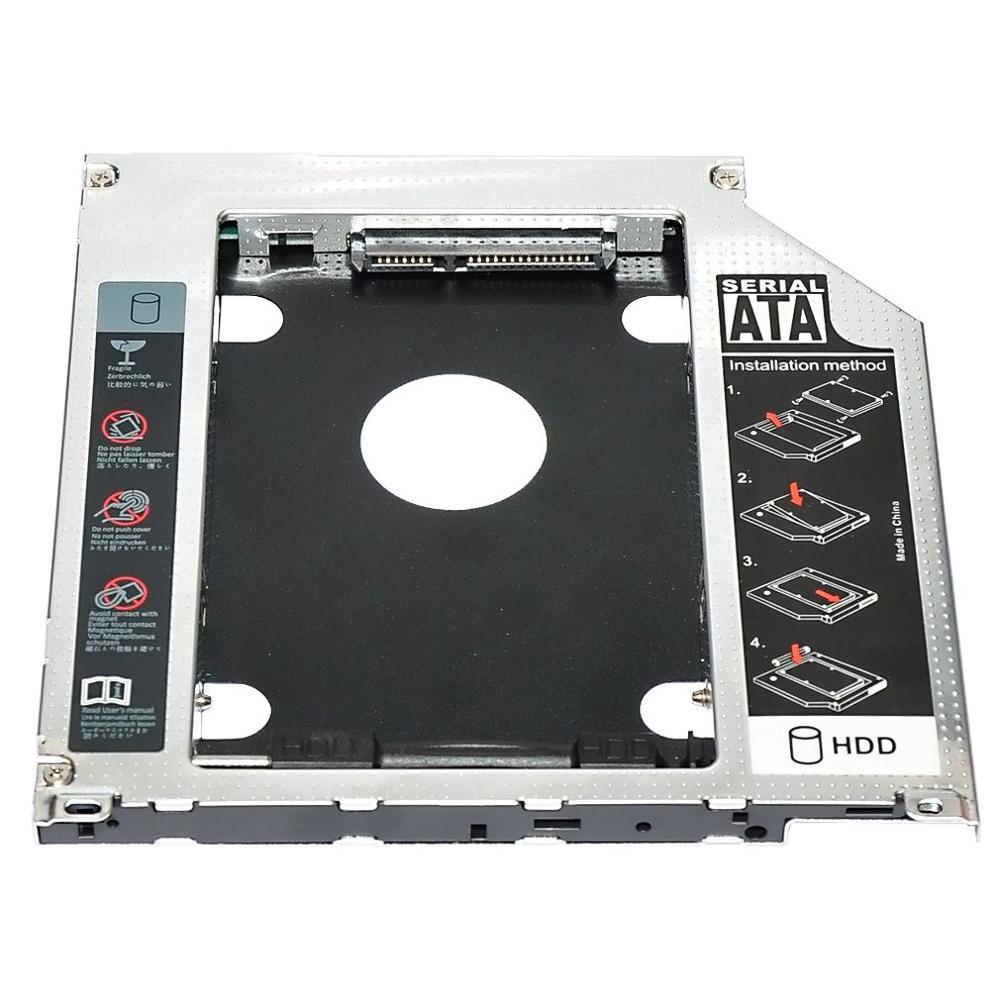 "2,5 ""9,5 мм SATA 2nd HDD SSD жесткий диск Caddy адаптер для MacBook Pro Unibody A1278 A1286 A1297 CD rom Оптический отсек"