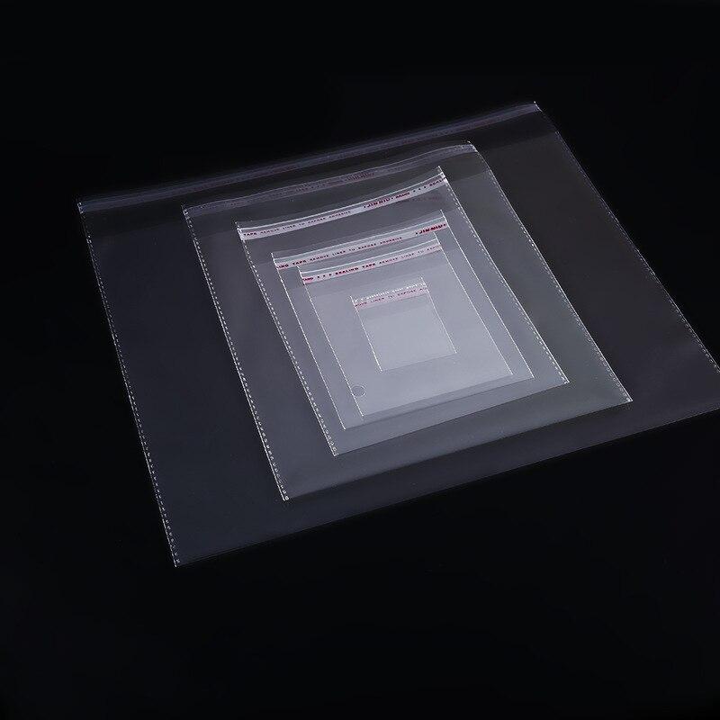 200 шт 4 размера прозрачный самоклеящийся герметичный Opp пластиковый мешочек Саше ювелирные изделия Подарочные Упаковочные пакеты для сваде...