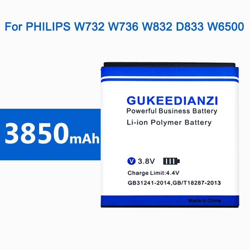 2019 nueva batería para PHILIPS Xenium W732 W736 W832 D833 W6500 w737 móvil recargable baterías AB2400AWMC 3850mAh