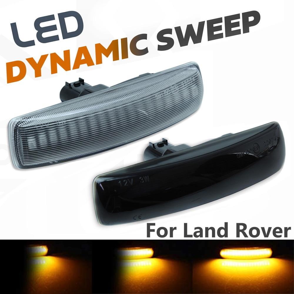 2 шт. светодиодный указатель поворота динамический боковой маркер лампа повторитель индикатор светильник для Land Rover Freeland 2 Discovery 3 4 Rover Sport L320