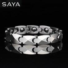 Haute poli tungstène hommes mode Bracelets 20.5CM longueur placage avec boîte-cadeau gratuite, livraison gratuite, personnalisé