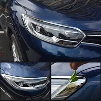 car headlight decoration frame fog lamp protector taillight sticker styling for renault kadjar accessories exterior modification