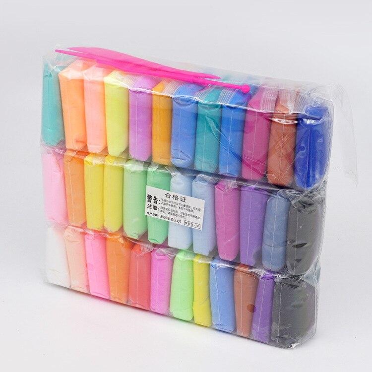 Crianças feito à mão diy luz argila 36 cor lama brinquedo super leve plasticina polímero argila puzzle luz lama brinquedo tem uma boa qualidade