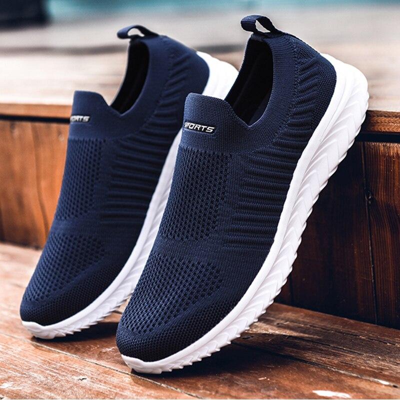 Fashion mesh men shoes Lightweight men sneakers Breathable men casual sports shoes Non-slip couple jogging shoes Size 35-46