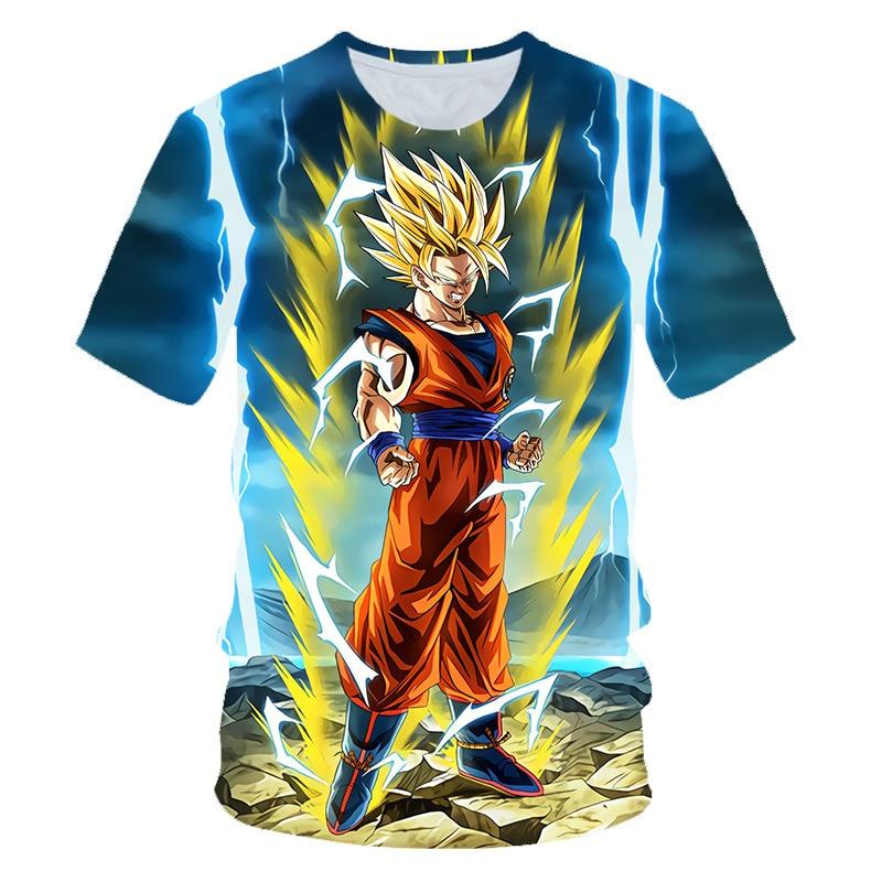 2019 New summer Harajuku Japan Dragon Ball Z Ultra Instinct Goku Super Saiyan God Broli T Shirts Kids Cartoon 3D Printed T-shirt