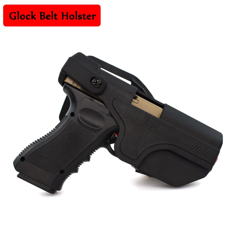 Тактический Glock 17 19 22 23 31 32 пистолет для переноски кобура военный армейский пистолет для стрельбы быстрая прямая кобура для ремня правая рук...