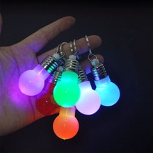 Llavero LED iluminación Mini bombilla LED llavero iluminar caramelo linterna lámpara colgante llave para Navidad vacaciones regalo noche lámpara