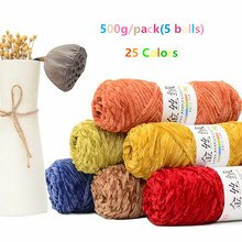 5 bolas/lote 500g macio chenille fio pleuche coral velo cachecol feito à mão diy kintting cobertor do bebê suéter fio