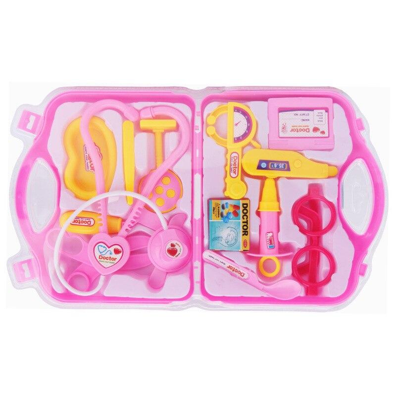Детские игрушки, детский врач, медсестра, комплект для ролевых игр, портативный медицинский инструмент, чемодан, медицинский инструмент, де...