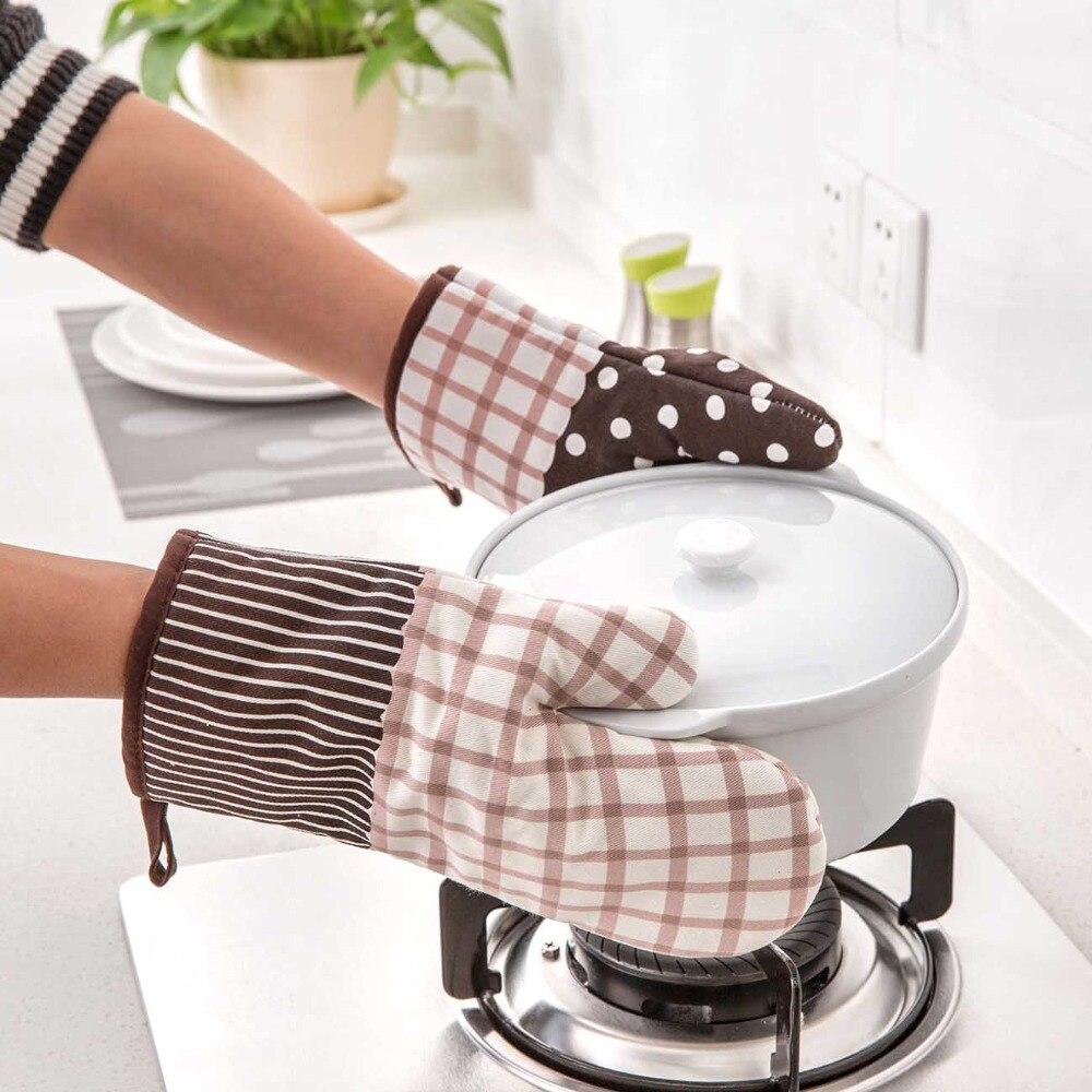 Хлопковая варежка для духовки, кухонные прихватки для приготовления пищи, для микроволновой печи, термостойкие митенки, для приготовления ...
