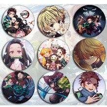 Demon Slayer Cartoon Icons Style Enamel Pin Kimetsu No Yaiba Buttons Badges Brooch Anime Lovers Denim Shirt Lapel Pins Gift