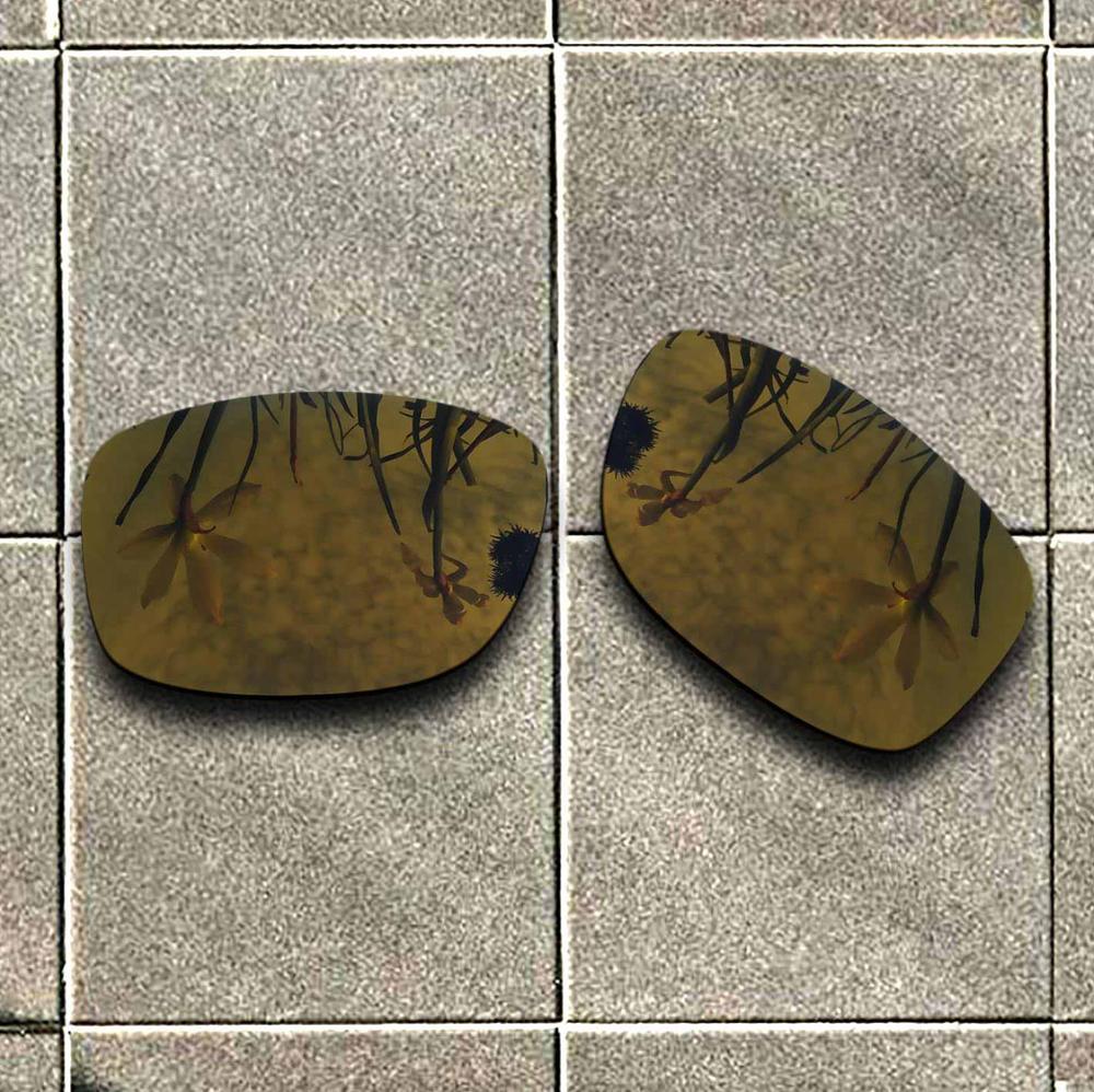Gafas de sol polarizadas de oro de bronce lente de repuesto para la protección UV de 100% de la montura al cuadrado de Oak Jumpy Good Fitness