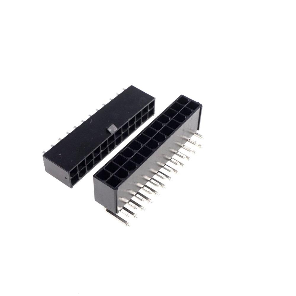 100 قطعة الكمبيوتر EPS ATX PSC اللوحة الرئيسية موصلات رقاقة 4.2 مللي متر موصل الطاقة مذربود 24 دبوس ذكر رأس دبابيس التوصيل إدراج
