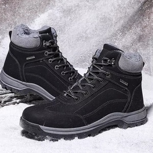 2021 Snow Boots For Men Winter Boots Warm Hiking Shoes Men Water Proof Ankle Boots Leather Winter Shoes Outdoor Sneakers 36-48