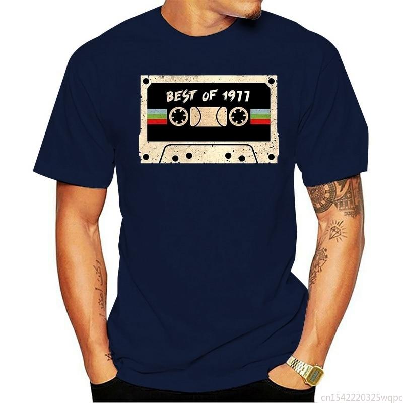 Camiseta Vintage para hombre Top informal en blanco y negro con cuello...