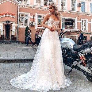 YIWUMENSA Spaghetti Strap Vintage Lace Beach Wedding Dress Plus Size Open Back Gowns Floor Length Bridal Dresses Hochzeitskleid