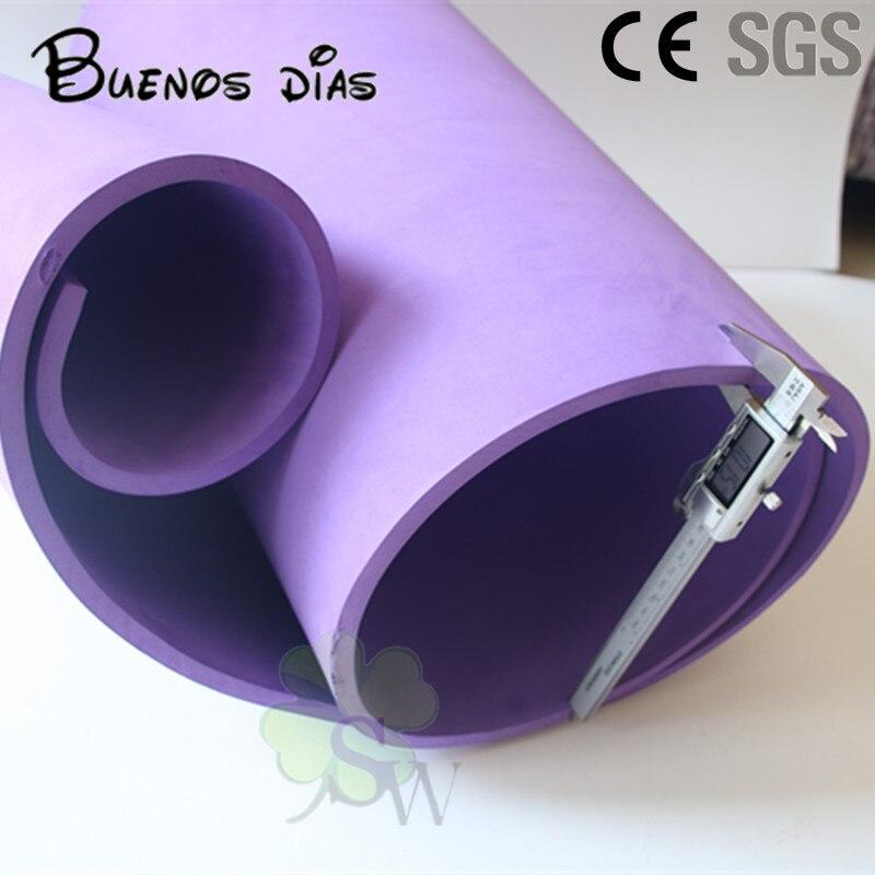 SGS aprobó la hoja de espuma Eva de color púrpura de 10mm de espesor, material hecho a mano para escuela de cosplay para niños tamaño 50cm * 200cm