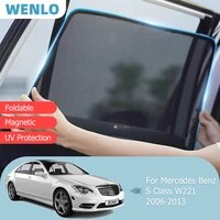 magnetic car sunshade front windshield door mesh frame curtain for mercedes benz s class w221 2006 2013 side window sun shade