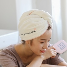 25x65 cm Lady's Magic Dry Hair Cap Quick Dry Hair Towel Lovely Drying Bath Towel Soft Head Wrap Hat