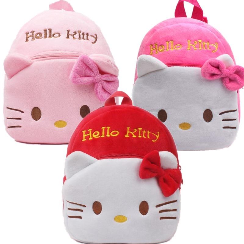 Hello Kitty cartoon kids plush backpack toy school bag Children's gifts  backpack boy girl baby student bags mochila Pokemon toy