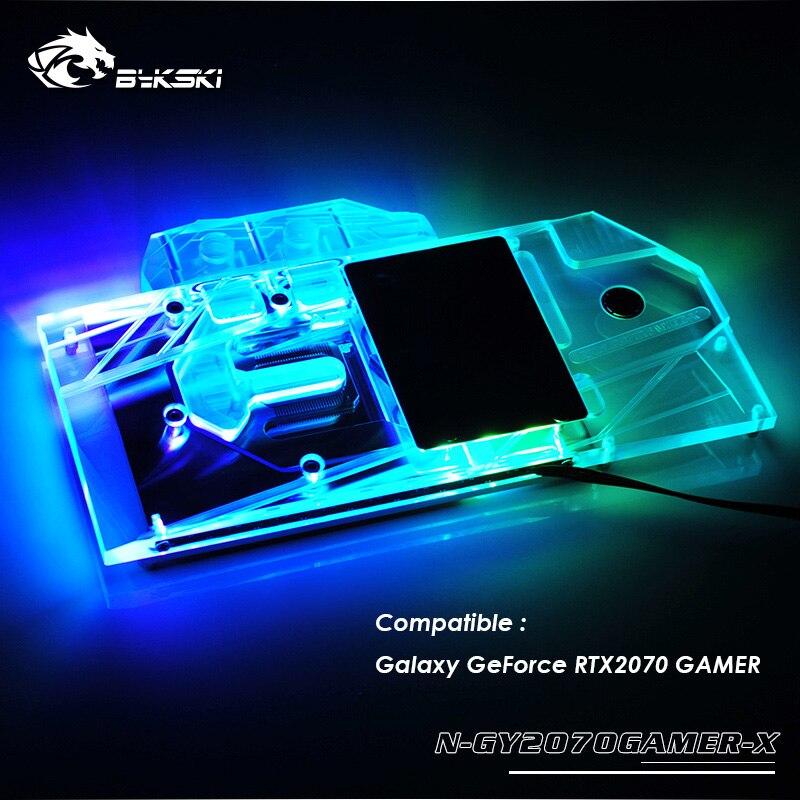Bloque gpu Bykski compatible con Galaxy GeForce RTX2070, Enfriador de gpu con refrigeración por agua, soporte para conectar placa base, N-GY2070GAMER-Xcooler