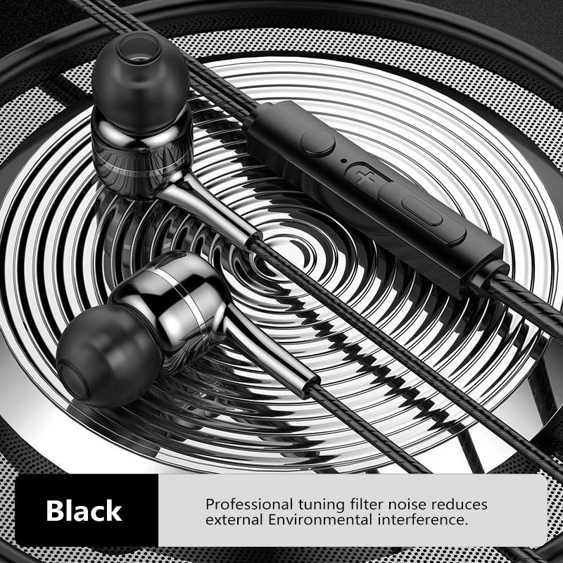 Наушники-вкладыши 3,5 мм, проводная Спортивная гарнитура с управлением 1,2 м, проводные наушники для смартфонов Huawei, Samsung, Iphone, Android