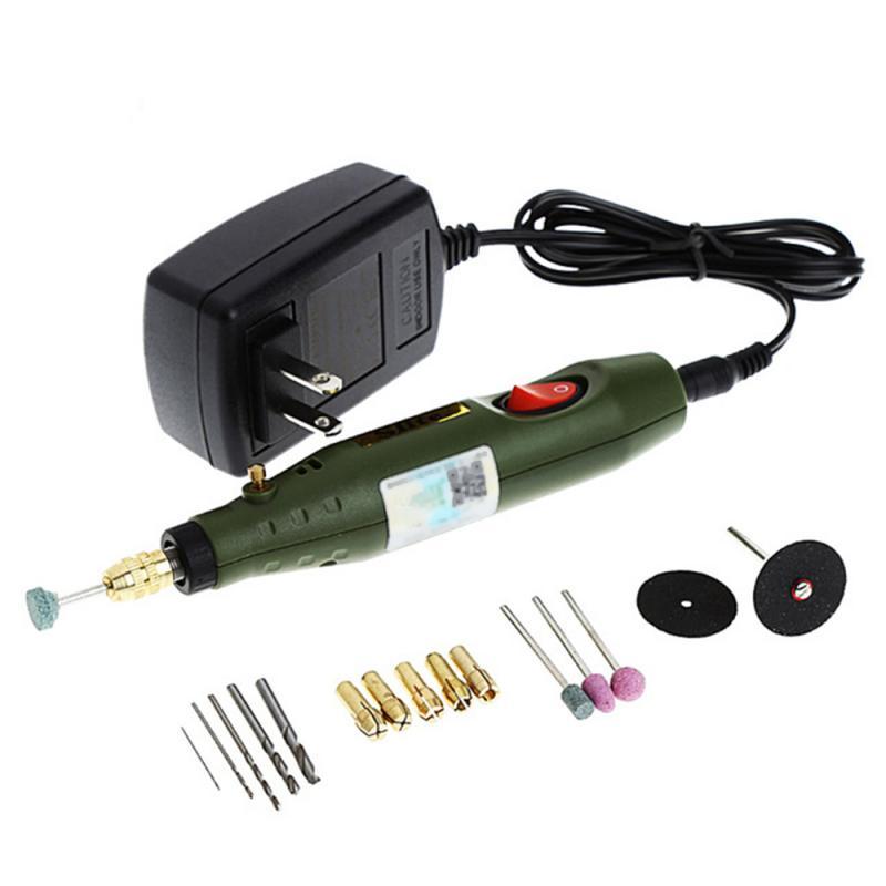 Aleekit mini broca elétrica, ferramentas elétricas 110 v 220 v com mandril universal 0.5-3.2mm kit de ferramentas de broca elétrica