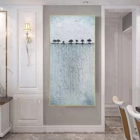 abstract wall art hand painted oil painting on canvas handmade landscape artwork for modern home living room decoration painting