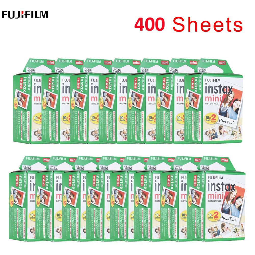 400 hojas Fujifilm Instax Mini película para FUJI Instant Photo cámara Mini 9 Mini 8 7s 7 70 90 papel fotográfico blanco para Dropshipping. Exclusivo.