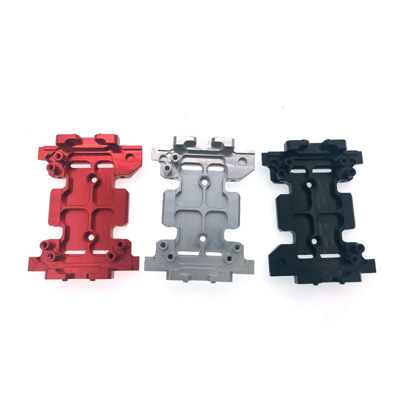Aluminum Alloy Gearbox Mount Transmission Skid Plate for 1:10 RC Crawler Axial SCX10 III AXI03007 Upgrade Parts enlarge