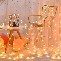 warm white rattan ball christmas lights string garland led ball 1 5m 3m string lights for birthday party wedding new year decors