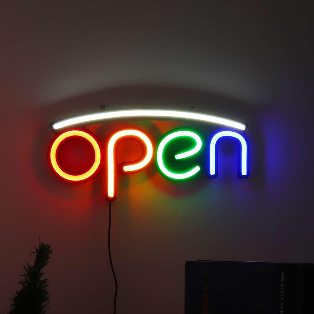 فتح النيون تسجيل ضوء 100-240 فولت بار حانة ليلة ضوء الجدار مصباح إضاءة داخلية علامات الإعلان الاتحاد الأوروبي التوصيل غرفة المنزل الديكور
