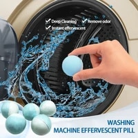10 pcs washing machine solid cleaner effervescent tablets deep detergent spherical mini cleaner tablets piece washer cleaner