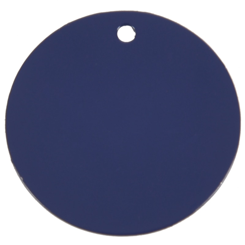 Identificador de animais gravado & anel, cachorro, gato, etiquetas, nome personalizado, 32mm, azul