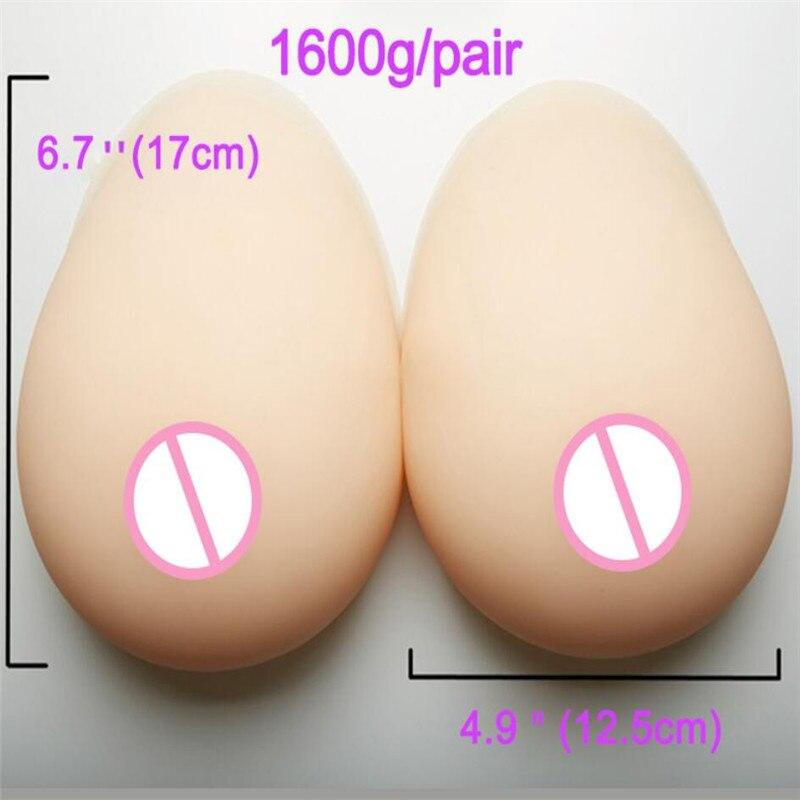 2020 1600g متخنث واقعية سيليكون أشكال الثدي ل كروسدرسر السحب ملكة الثدي وهمية استئصال الصحية محسن