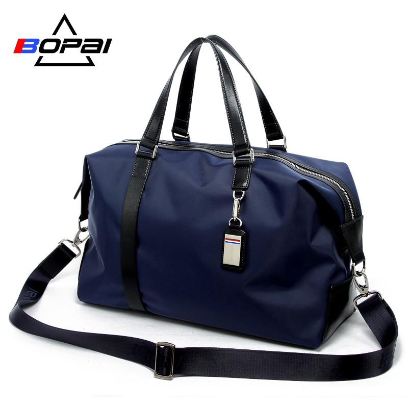 BOPAI Men Travel Bag Large Capacity Multifunctional Hand Bag Tote Shoulder Travel Bags Luggage Female Waterproof Duffle Handbag weiju new casual travel bags men large capacity handbag luggage travel duffle bag nylon shoulder bag simple traveling bags