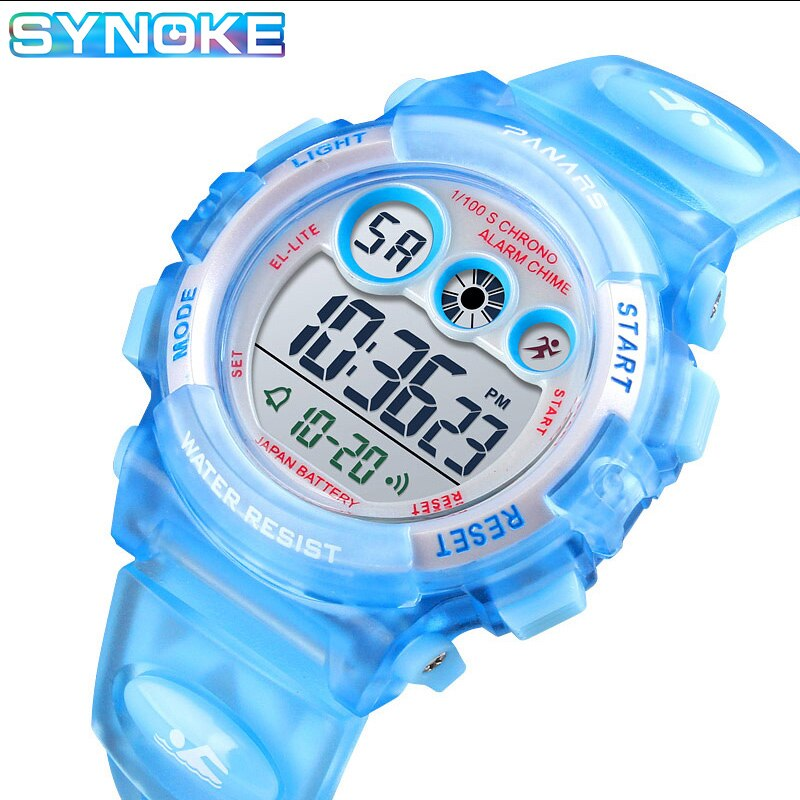 SYNOKE Watch For Girls Boys Digital Kids Watches 50M Waterproof LED Watches Alarm Date Sports Electronic Watch Dropship 1451 waterproof children boys girls digital led quartz alarm date sports wrist watch new arrival freeshipping hot sales sport watches