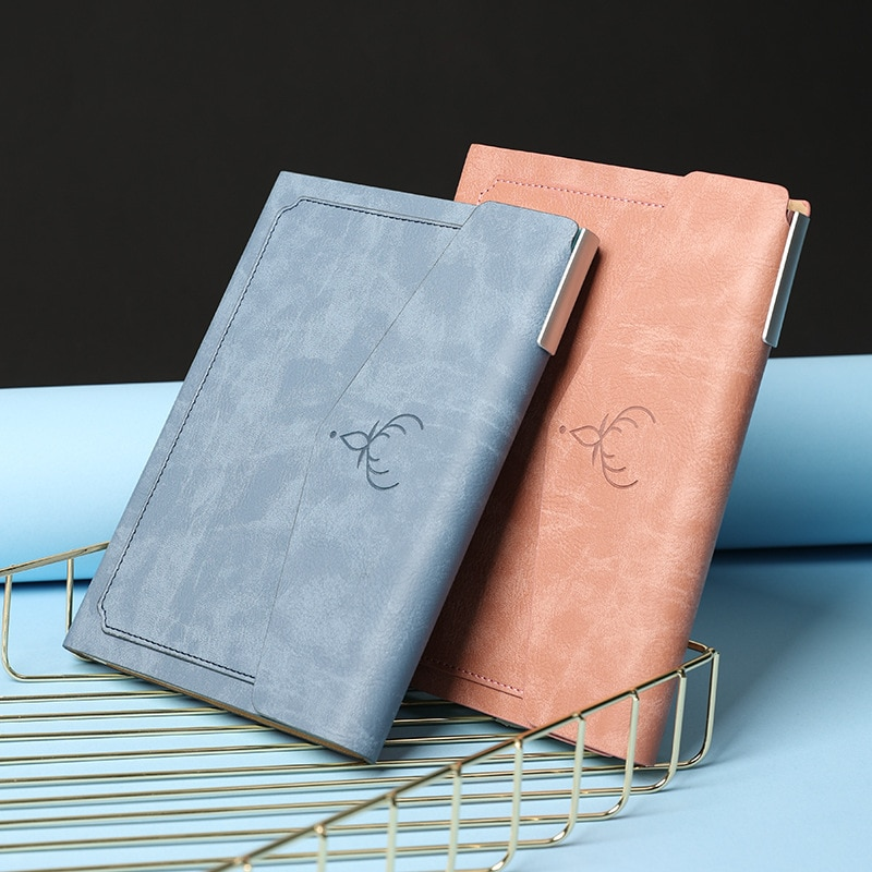 Simple Buckle Pu Notebook For Students A5 Agenda Planner Daily Business Office Work Notepad 2021 School Stationery Supplies Book