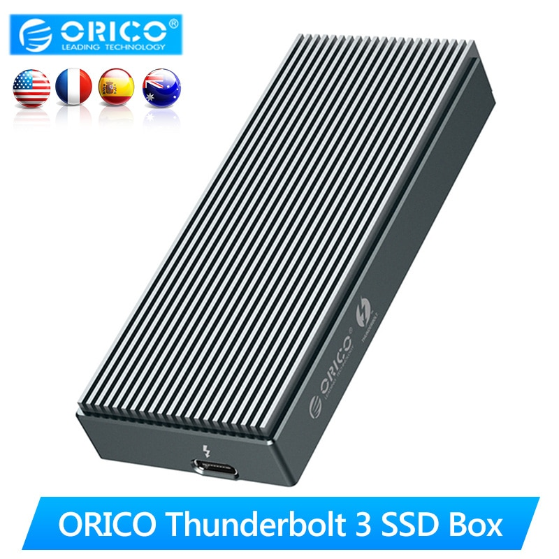 Orico Thunderbolt 3 Ssd Doos Nvme M.2 Ssd Behuizing Case 2 Tb Type-C Met 40Gbps Thunderbolt 3 C Tot C Kabel Voor Laptop Desktop